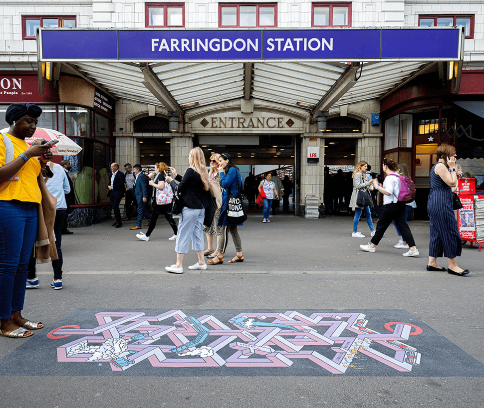 Farringdon Station By Alba Skottowe